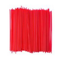 Hosszú piros szívószál 6,5mm x 35cm, 200db/csomag
