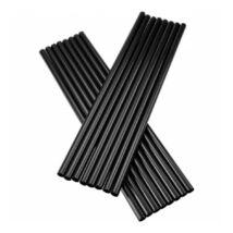 Vastag fekete szívószál 8mm x 25cm, 500db/csomag